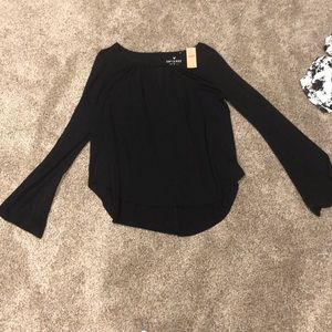 Black long sleeve dress shirt